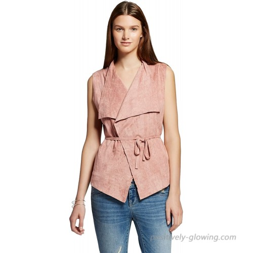 Romeo and Juliet Couture Women's Faux Suede Vest with Tie Back Detail at Women's Clothing store