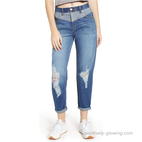 Jordache Legacy Women's Andie Carrot Destructed Jeans at Women's Jeans store