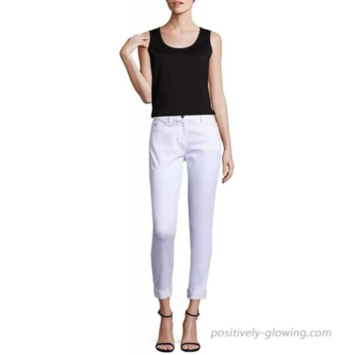 St. John Collection Womens Bardot Slim Cropped Jeans White Size 4 at Women's Jeans store
