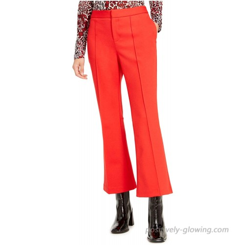 Bar III Womens Cropped Stretch Flared Pants at Women's Clothing store