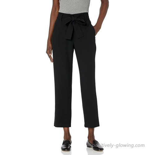 BCBGeneration Women's Woven Tie Waist Ankle Pant at  Women's Clothing store