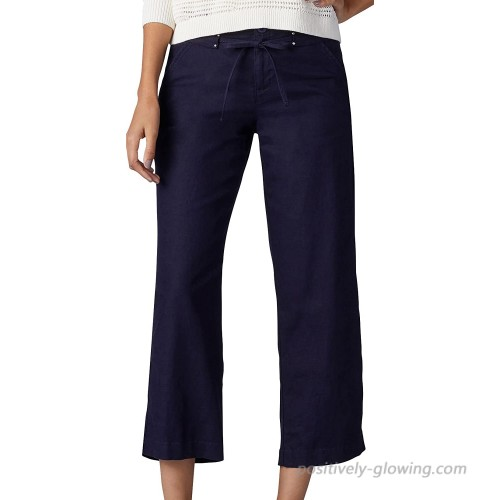 Lee Women's Straight Fit Sawyer Capri Pant Pants Navy 6 at  Women's Clothing store