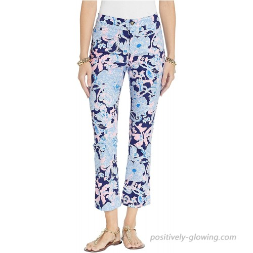 Lilly Pulitzer Kelly High-Rise Crop Flare Pants Bright Navy Amore Please 00 27.5 at  Women's Clothing store
