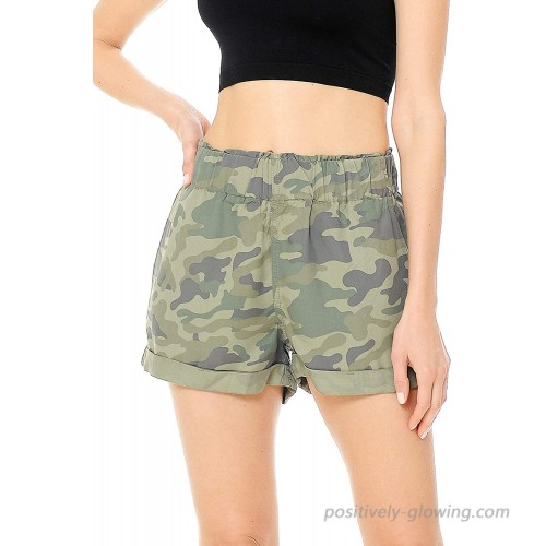 Celebrity Pink Women's Juniors High Rise Woven Camouflauge Shorts at  Women's Clothing store