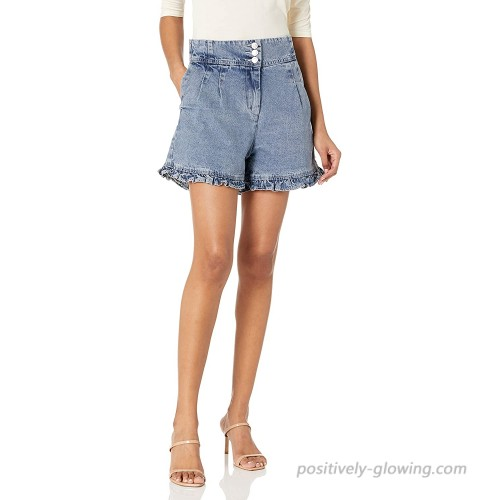 KENDALL + KYLIE Women's Flare Button Up Short at Women's Clothing store