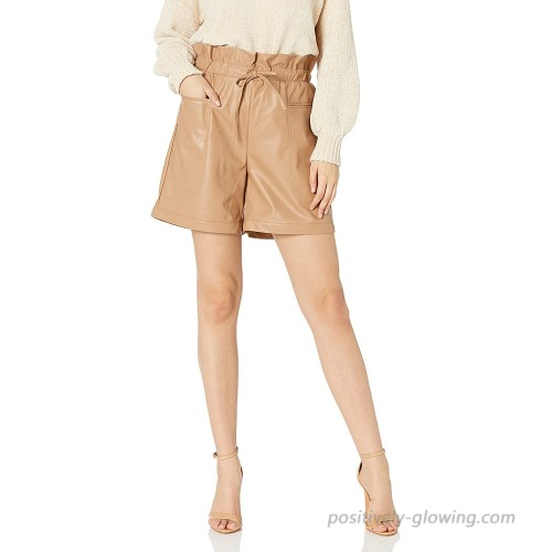 KENDALL + KYLIE Women's Vegan Leather Paperbag Shorts at  Women's Clothing store
