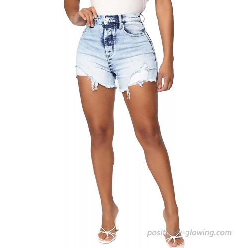 Tulucky Cut Off Denim Shorts for Women Frayed Distressed Cute Mid Rise Ripped Comfy Stretchy Jean Short at  Women's Clothing store