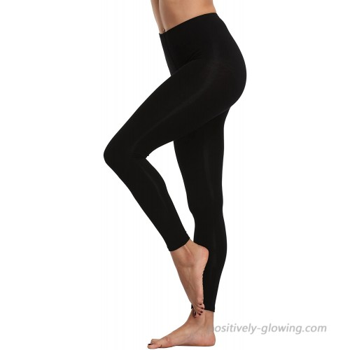 A-Wintage Women's High Waisted Ultra Soft Lightweight Leggings Ankle Length Pants Workout Yoga Leggings at  Women's Clothing store
