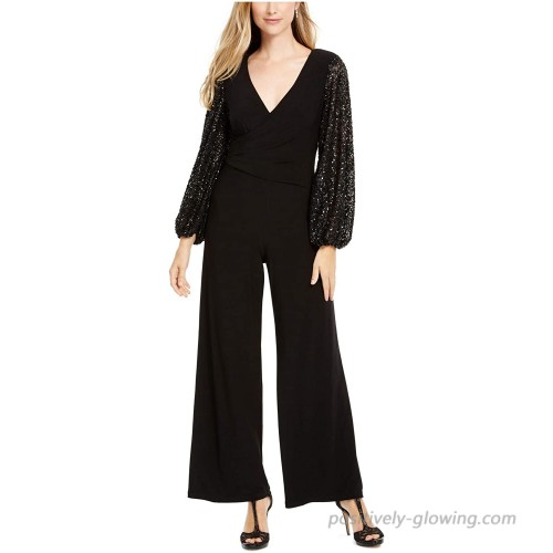 Adrianna Papell Women's Jersey and Sequin Jumpsuit
