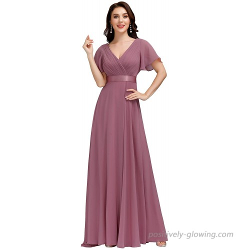 Alisapan Womens Elegant Formal Gowns Chiffon Party Evening Dresses for Women 98901