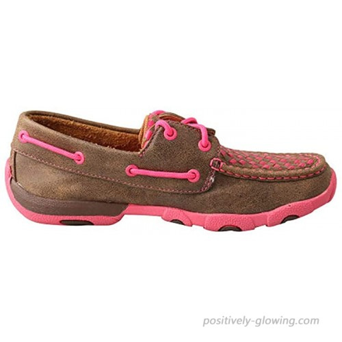 Twisted X Women's Boat Shoe Leather Driving Moccasins