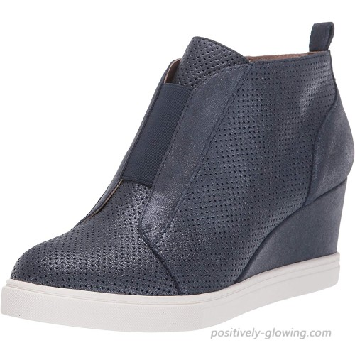 Linea Paolo - Felicia II - Our Original Platform Wedge Sneaker Bootie in Leather and Suede Ankle & Bootie