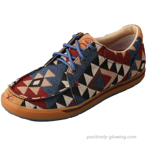 Twisted X Women's Hooey Loper Graphic Pattern Canvas 8M Fashion Sneakers