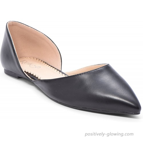 Women's Ballet Flat D'Orsay Comfort Light Pointed Toe Slip On Casual Shoes Flats