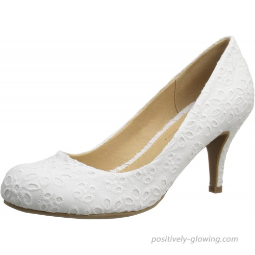 CL by Chinese Laundry womens Nanette Dress pumps shoes White Eyelet 7.5 US Pumps