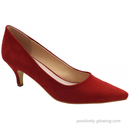 Greatonu Womens Shoes Katy Pointed Closed Toe Low Heel Dress Pumps Pumps