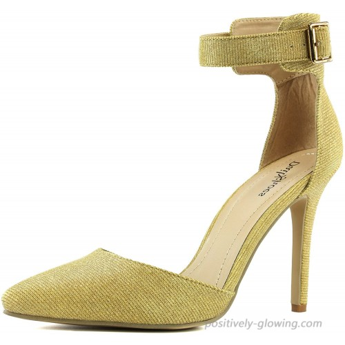 Women's High Heel Pointed Toe Ankle Buckle Strap Evening Party Dress Casual Sandal Shoes Heeled Sandals