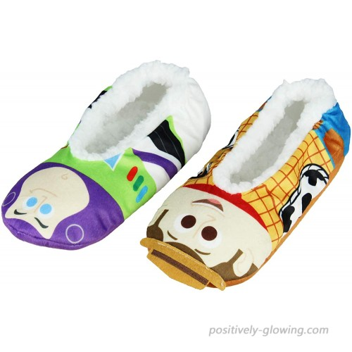 Disney Toy Story Slippers Woody And Buzz Lightyear Slipper Socks with No-Slip Sole For Women Men