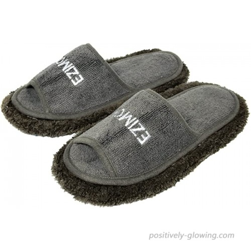 Friendly House Women's Chenille Microfiber Floor Cleaning Mop Slippers Grey