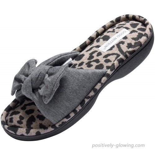 good motion Women's Open Toe Home Slippers Wide Women House Slippers Fluffy Soft Plush Cute Slippers Comfy Fur Fuzzy Memory Foam Slippers Cozy Slip-on Indoor Outdoor Bedroom Shoes for Women Size 7-12 Slippers