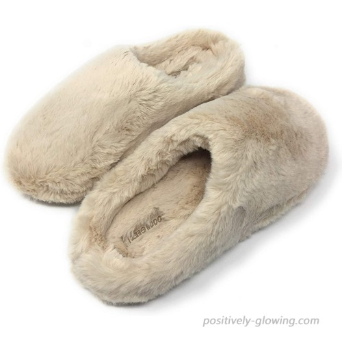 Women's Cozy Slippers Oooh Yeah Sherpa Funny Fluffy Fuzzy Slippers Slip-On Slippers Comfy Soft House Slippers
