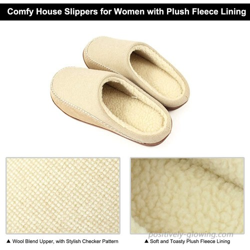 Womens Mens Comfy Warm Memory Foam Slippers Fuzzy Faux Fur Lining House Shoes with Arch Support Indoor and Outdoor Shoes