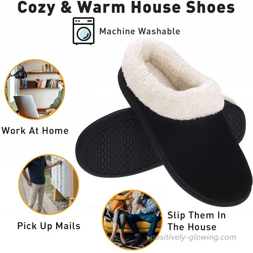 Women's Slippers House Shoes Fuzzy Fluffy Memory Foam Clog Slip On Indoor Outdoor Slippers