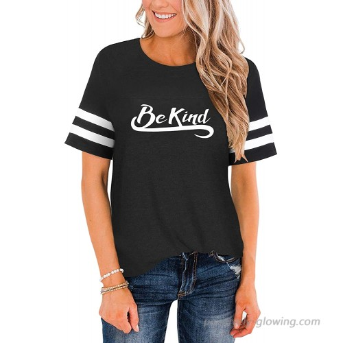 Women Short Sleeve T Shirt Casual Crew Neck Letter Printed Striped Raglan Blouse Funny Graphic Cute Tee Juniors Tops at  Women's Clothing store