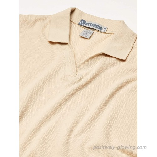 Ashe Xtream Women's Cotton Blend Pique Polo Sand 3X-Large at Women's Clothing store