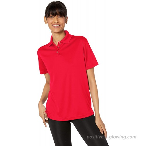 UltraClubs Women's Cool & Dry Mesh Sport Polo at  Women's Clothing store